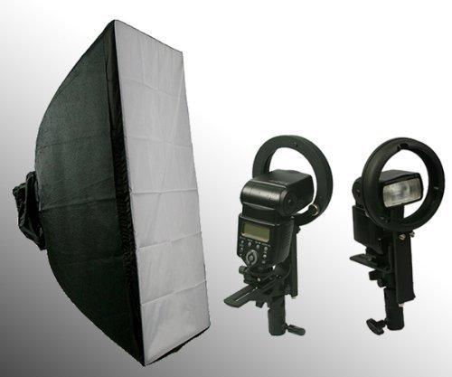 ePhoto 24SB1001BWBRK 24 x 34-Inches Photography Studio Photo Portrait Flash Speedlight Softbox