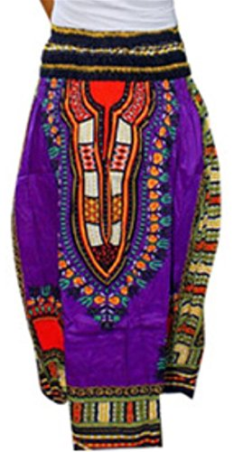 Viola Reversibile Africana Elastico Dashiki Domple Sexy Stampa Donne Vestito Delle Spiaggia A4Ov1p1wq