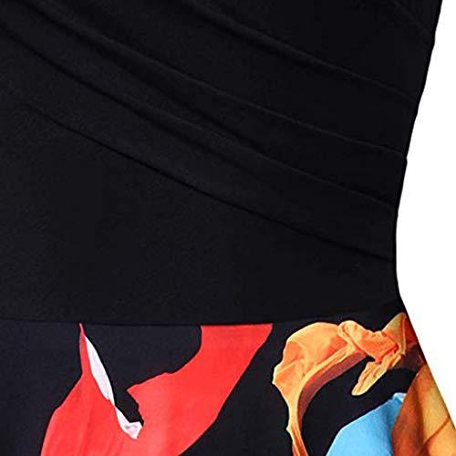 Vestito Da Corta Matrimonio Longra Abiti Retr Donna A Stampa Abito Pieghe Manica Floreale lKc1Ju5F3T