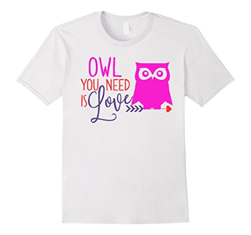 Cute Owl You Need Is Love T-Shirt For Valentine's Day