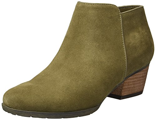 Blondo Women's Villa Ankle Boot, Olive Suede, 8 M US