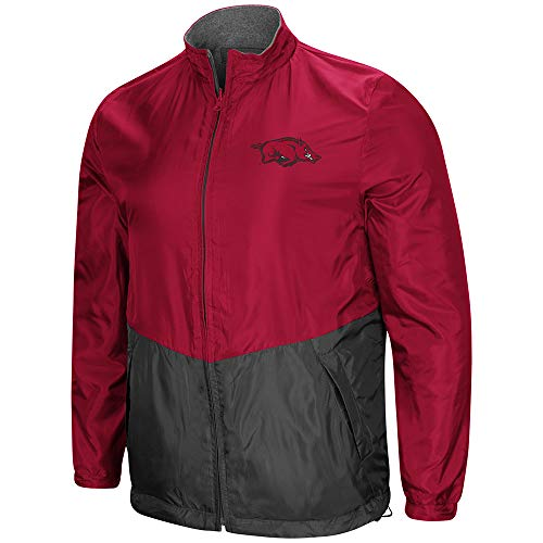 (Colosseum Arkansas Razorbacks Halfback Reversible Polar Fleece/Rain Jacket (XL))