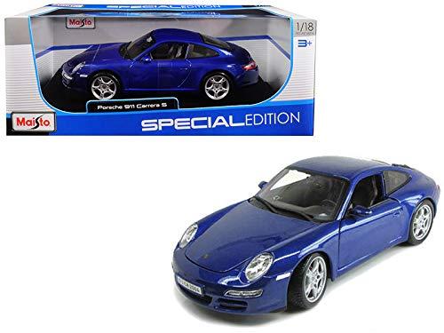 StarSun Depot New Porsche Carrera S 911 997 Blue 1/18 Diecast Model Car by Maisto (Best Tires For Porsche 911 997)
