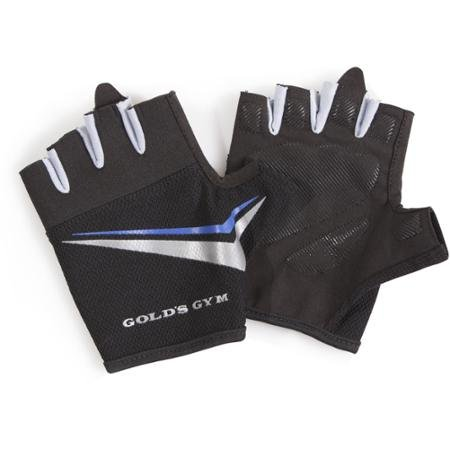 Gold's Gym Men's Tacky Half-finger Weight Lifting Gloves (M/L)