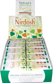 Nirdosh Non Tobacco Non Nicotine Herbal Cigarettes Pack of 90 by Maans