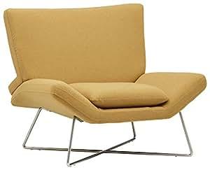 Amazon Com Rivet Farr Lotus Accent Chair Canary Kitchen