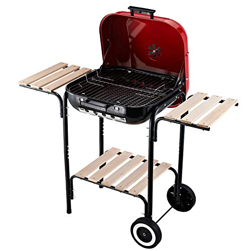 Outsunny 19 Steel Porcelain Portable Outdoor Charcoal Barbecue Grill