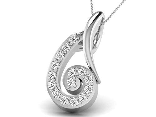 Or Blanc 14 ct Pendentifs Diamant , 0.03 Ct Diamant, GH-SI, 0.34 grammes.