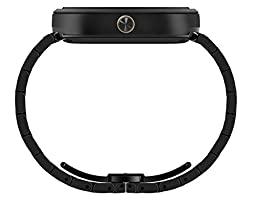 Motorola Moto 360 - Black Metal Smart Watch for Android Devices (Certified Refurbished)