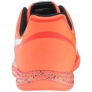 PUMA Men's Evospeed Star IV Soccer Shoe, Lava Blast/White/Total Eclipse, 11 M US