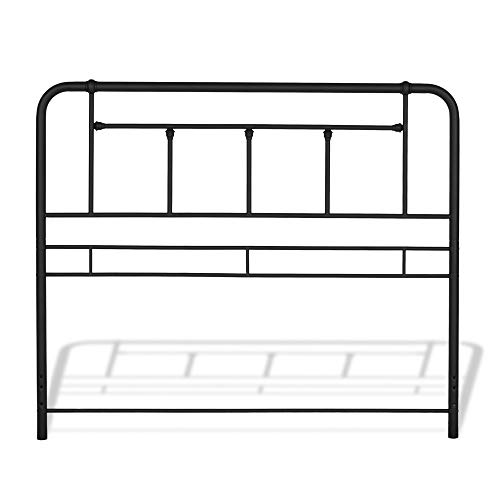 (Fashion Bed Group B12483 Baldwin Metal Headboard with Detailed Castings, Twin, Textured Black)