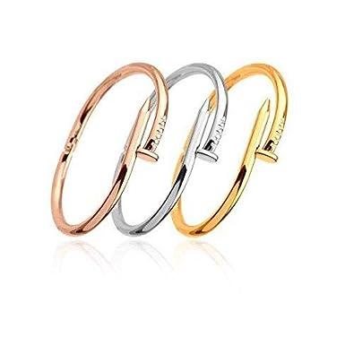8631a23f0 3 in 1/Set Nail Cuff Bracelets & Bangles Female Stainless Steel Carter  Loves Bracelet