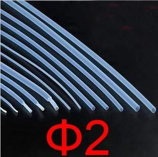 Ochoos New 2mm Diameter PTFE Heat Shrink Tube, F4 Heat Shrink tubing,Heat Shrink,Teflon Hot shrinkable Tube Hose pipeTransparent
