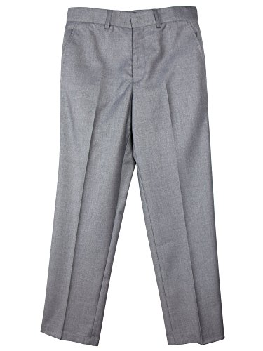 Spring Notion Boys' Flat Front Dress Pants 18M Grey (Pants Dress Gray New)