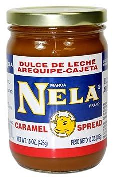Amazon.com : Nela Caramel Spread 15oz, Dulce de Leche, Arequipe-Cajeta : Grocery & Gourmet Food