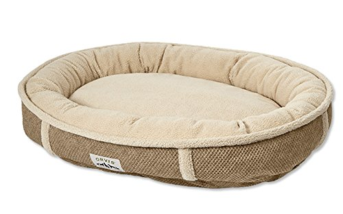 Orvis Comfortfill Wraparound Dog Bed With Fleece / Medium Dogs 40-60 Lbs., Brown Tweed, by Orvis
