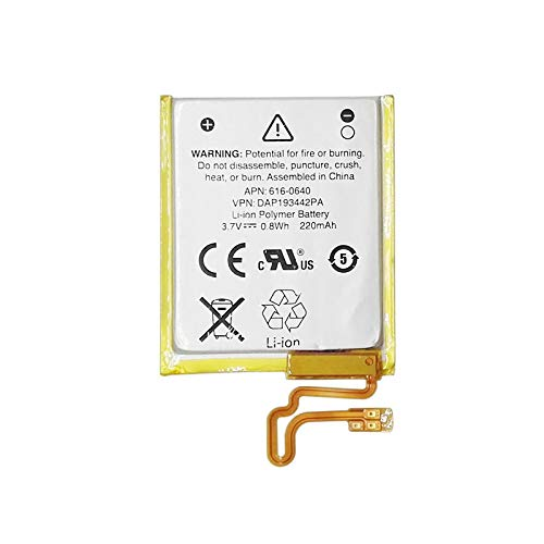 Wee Li-Polymer Replacement Battery 220mAh for Apple iPod Nano 7th, iPod Nano 7 616-0640 (16g Ipod Nano)