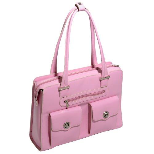 McKleinUSA VERONA 96629 Pink Leather Fly-Through Checkpoint-Friendly Ladies' (Pink Italian Briefcase)