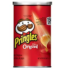 Original Flavored Pringles Potato Crisps are flavored from edge to edge for a tantalizing potato taste and perfect crunch. With their delicious taste and original, stackable shape, Pringles Potato Crisps always inspire good times with friends...