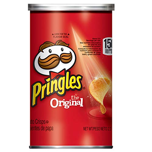 Pringles Potato Crisps Chips, Original Flavored, Grab and Go, 28.3 oz Box (12 Cans)