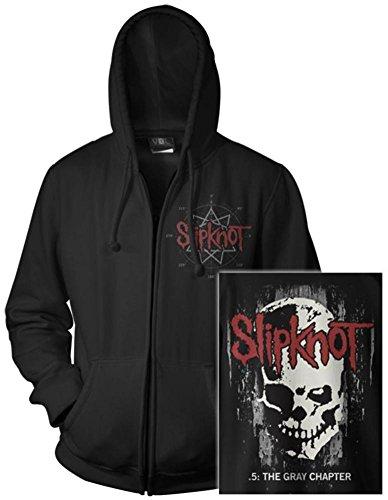 Zip Hoodie: Slipknot- Skull Back (Front/Back) Size M