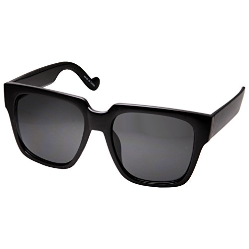 grinderPUNCH Mens Extra Large XL Oversized Black Square Sunglasses ()