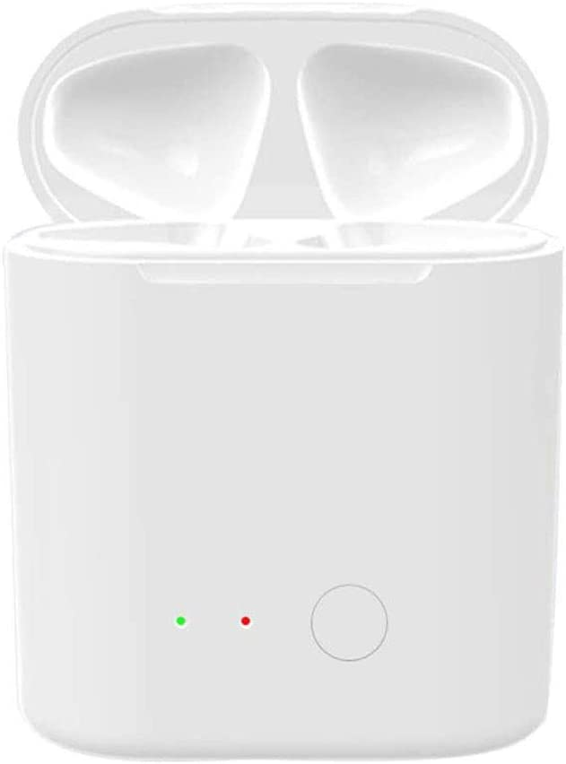 Wireless Charging Case Compatible with AirPods 1 2 Generation, AirPod Charger Case Replacement with Bluetooth Pairing Sync Button, Built-in Battery 5 Times Full Charge for Air Pods (Case Only)