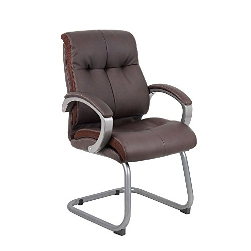 Ramsey Padded Bonded Leather Cantilever Base Guest Chair Dimensions: 25