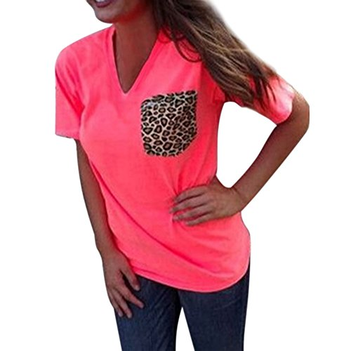 funoc-ladies-women-loose-leopard-printing-chiffon-casual-tops-t-shirt-blouse-orange-v-neck