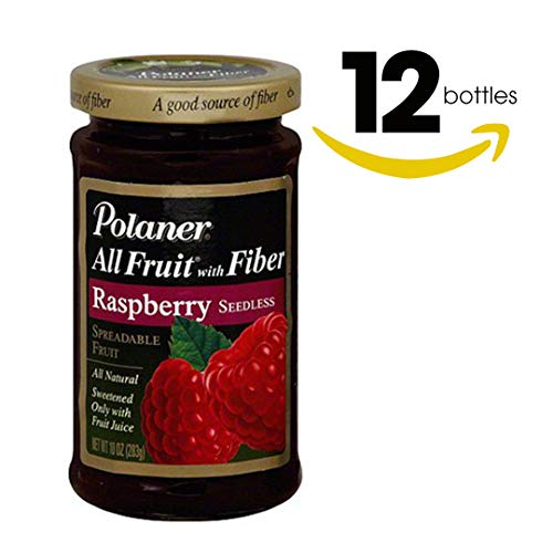 Polaner Red Raspberry Spreadable Fruit, 10 oz (Pack of ()