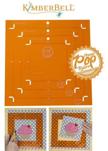KimberBell Orange Pop Ruler Set - Square -