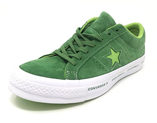 Converse One Star OX Premium Suede Fashion Sneaker (10.5 D US, Mint Green/Jade Lime/White)]()