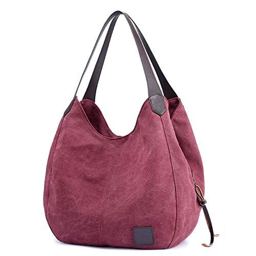 Bag Bag Shoulder Hobos Casual Canvas Vintage AILIUJUNBING 2018 Bag Hand Handbags Canvas Mujer Ladies Women Tote Ix46v