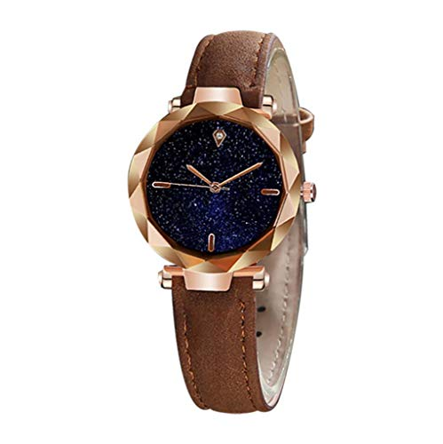 Women Ladies Watches, Starry Sky Dial Luxury Quartz Diamond Leather Brand Straps Bracelet Wristwatch (Multicolor -G, Free size) (Best Guitar Amp Sim 2019)