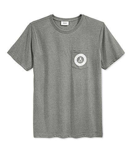 T-shirt Icon Wesc - WeSC Mens Icon Circle Mini Graphic T-Shirt Grey S