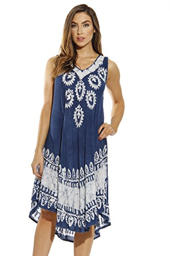 21638-DARKDENIM-XL Riviera Sun Dress / Dresses for Women,Dark Denim,X-Large ()
