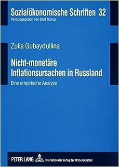 Book Nicht-Monetaere Inflationsursachen in Russland: Eine Empirische Analyse (Sozialoekonomische Schriften)