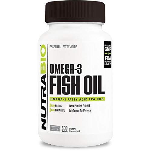 NutraBio Omega 3 Fish Oil (500 Softgels)