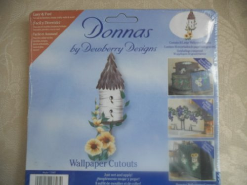 Donnas by Dewberry Designs Wallpaper Cutouts of Birdhouse with flowers