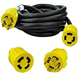 Leisure Cords 4-Prong 25 Feet 30 Amp Generator Cord, 10 Gauge Heavy Duty L14-30 Generator Power Cord Up to 7,500W (25-Feet)