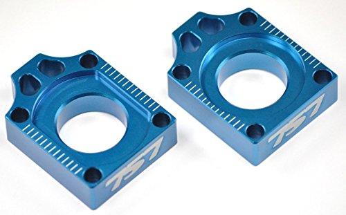 757 Billet Rear Axle Blocks CR 125 250 R CR125 CR250 CRF250 CRF450 Blue