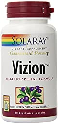 Solaray Vizion Bilberry Special Formula, 42 mg, 90 Count