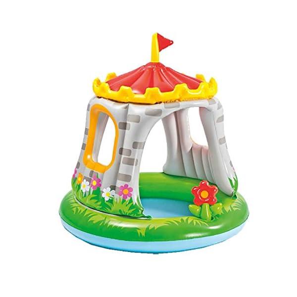 Intex 57122 Royal Baby Castello- Piscina per Bambini 1-3 anni, Multicolore, 122 x 122 cm 1 spesavip