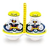 Arte D'Italia Imports Hand Painted Salt and Pepper Set - Ricco Deruta