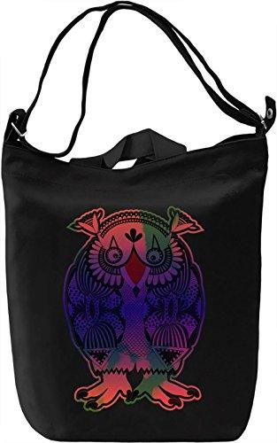 Colourful Owl Borsa Giornaliera Canvas Canvas Day Bag| 100% Premium Cotton Canvas| DTG Printing|
