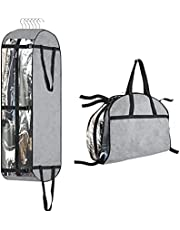 """Hanging Garment Bags for Closet Storage, 50"""" Moving Bags for Carry on Garment Bag for Men, Women, Coat, Jacket, Shirt, with 6 Adjustment Buttons Portable Garment Bags, Clothes Suit Travel Cover"""