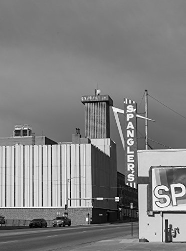 24 x 36 B&W Giclee Print of Sign for Spangler's carpet store in downtown Pueblo, Colorado 2015 Highsmith - Pueblo Colorado Stores In
