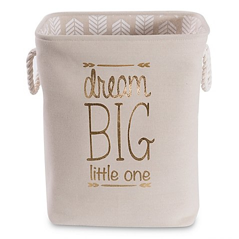 Taylor Madison Designs ''Dream Big Little One'' Hamper in Natural/White