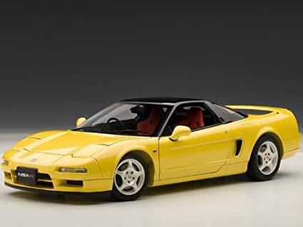 1992 Honda NSX Type R Yellow 1/18 by Autoart 73297