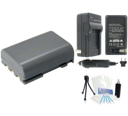 NB-2LH High-Capacity Replacement Battery with Rapid Travel Charger for Select Canon Digital (Nb 2lh Camera Battery)